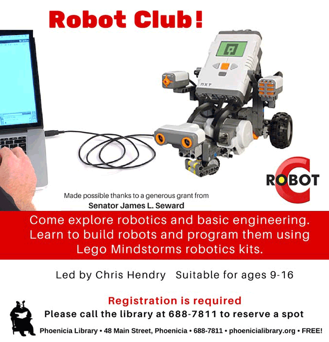 Robot Club at Phoenicia Library
