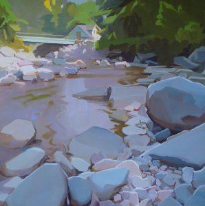 Bearsville Stream painting by Karen O'Neil