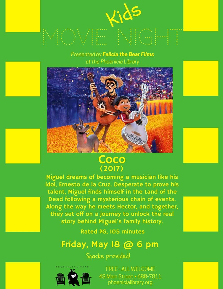 Kids Movie Night Coco