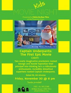 Kids Movie Night - Capt. Underpants
