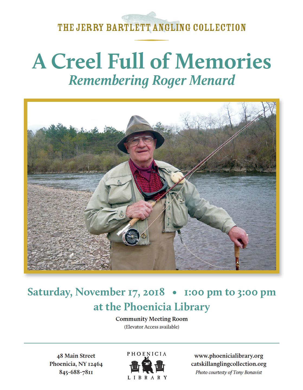 Roger Menard Memorial at Phoenicia Library