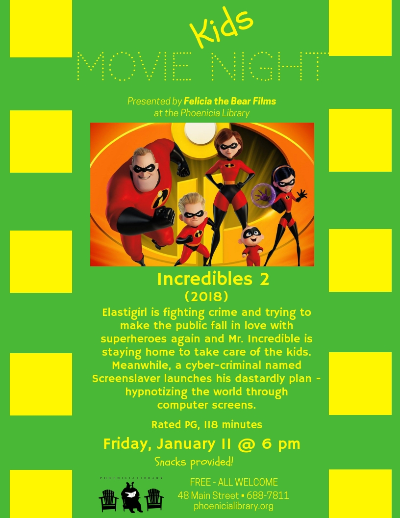 Kids Movie Night Incredibles 2