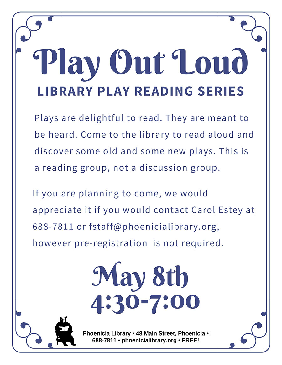 Play Out Loud: Library Play Reading – Phoenicia New York in