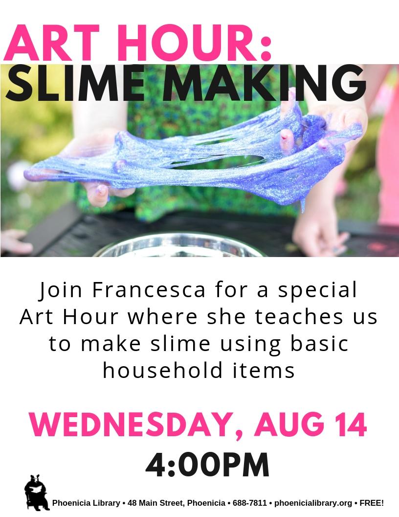 Art Hour Slime Making