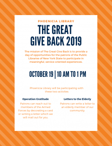 The Great Giveback Phoenicia